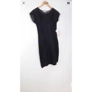 NWT Cecilia Prado sheer yoke cap sleeve dress
